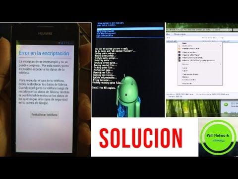 como reparar el mensaje de error de cifrado cuando falla el cifrado en dispositivos android huawei y625 u21