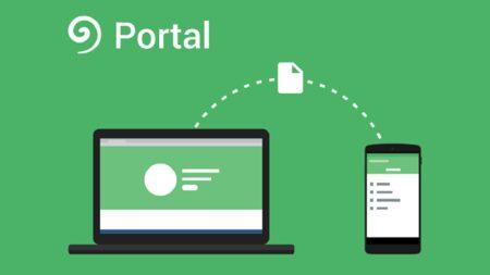 como transferir archivos de pc a android usando portal