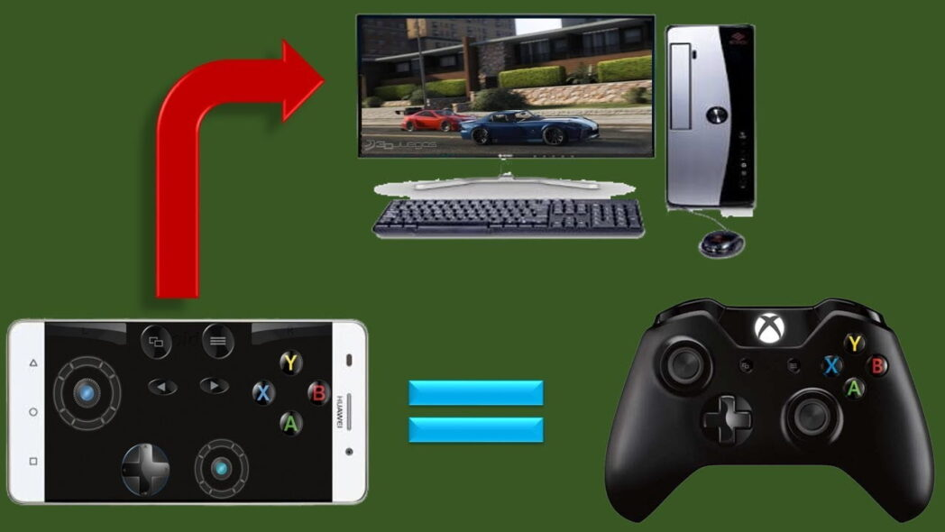 como usar android como gamepad para pc con windows