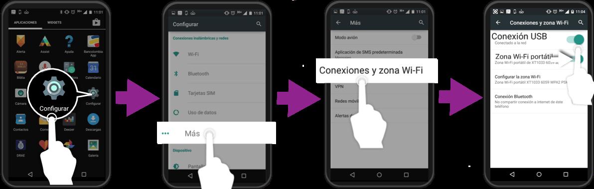 como utilizar un telefono inteligente android como anclaje usb para conectar una computadora