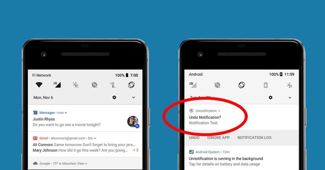 como ver las notificaciones eliminadas por error en android