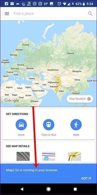 cual es la diferencia entre google maps y google maps go para dispositivos android