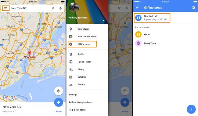 la navegacion con google maps en android tambien esta sin conexion 1