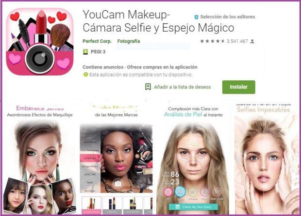 las mejores aplicaciones de maquillaje para android para simular el maquillaje facial