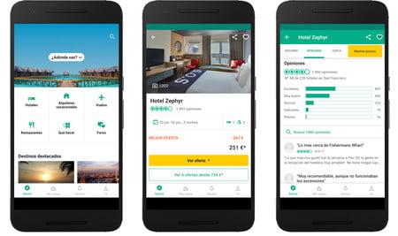 las mejores aplicaciones de viajes y vacaciones para android