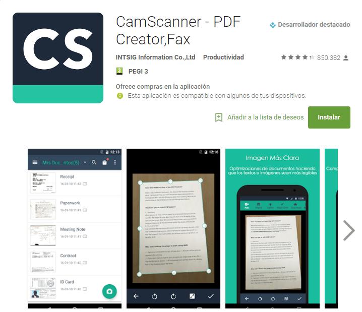 las mejores aplicaciones para escanear documentos y fotos en android
