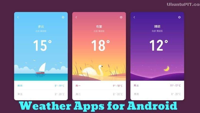 las mejores aplicaciones y widgets meteorologicos para android