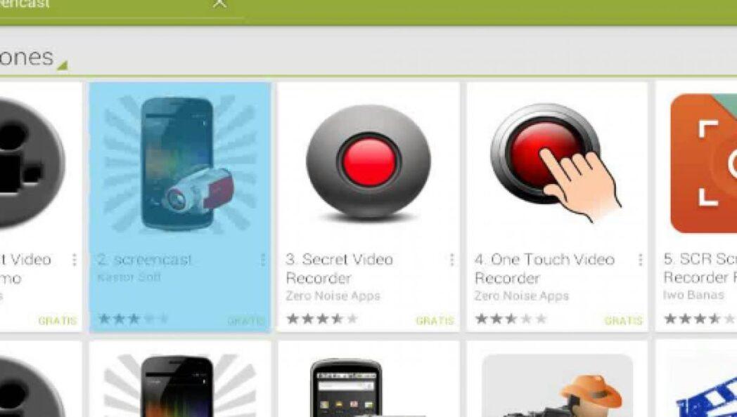 los mejores grabadores de pantalla de android para usar en telefonos inteligentes y tabletas