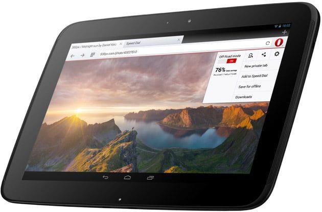 opera 18 para android llega una version para tableta 1