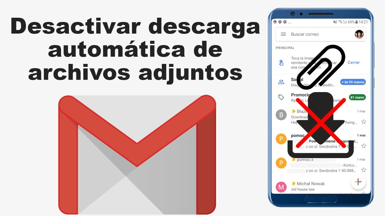 que hacer si no puede descargar archivos adjuntos de correo electronico en android