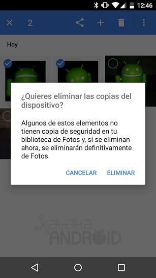 que hacer si no puede eliminar fotos de la galeria de android