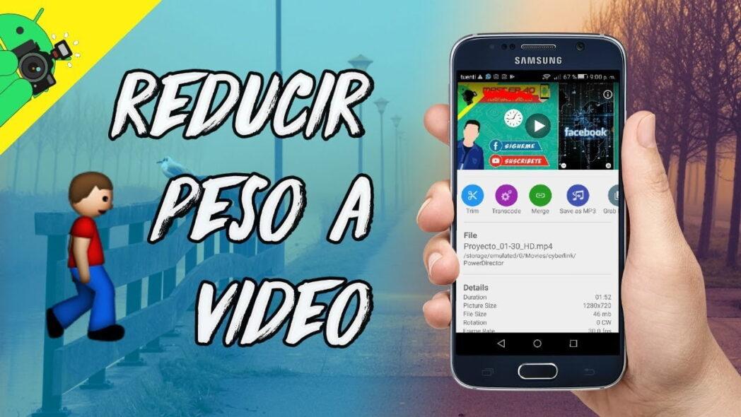 reducir el tamano de los videos de android con una aplicacion simple