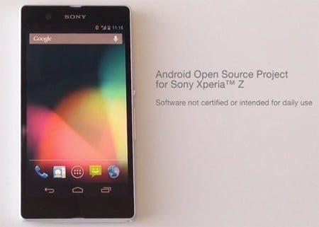 sony xperia z entra en aosp proyecto de codigo abierto de android 2