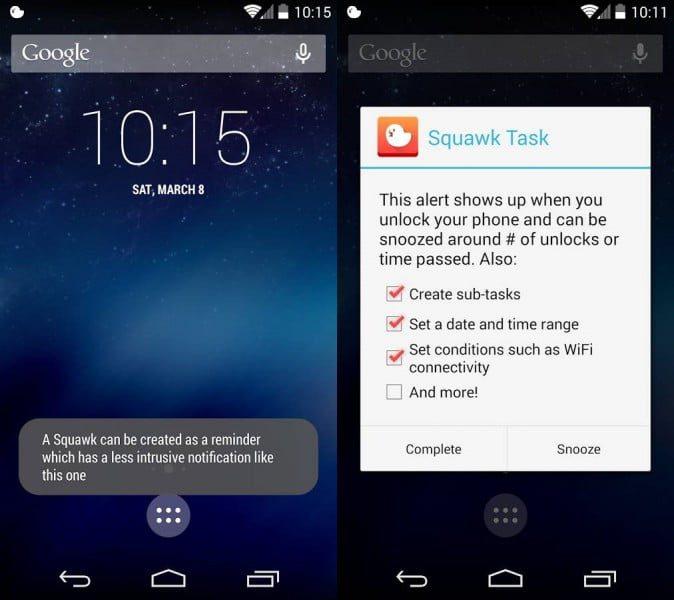 squawk tus compromisos cada vez que desbloqueas tu dispositivo android 1