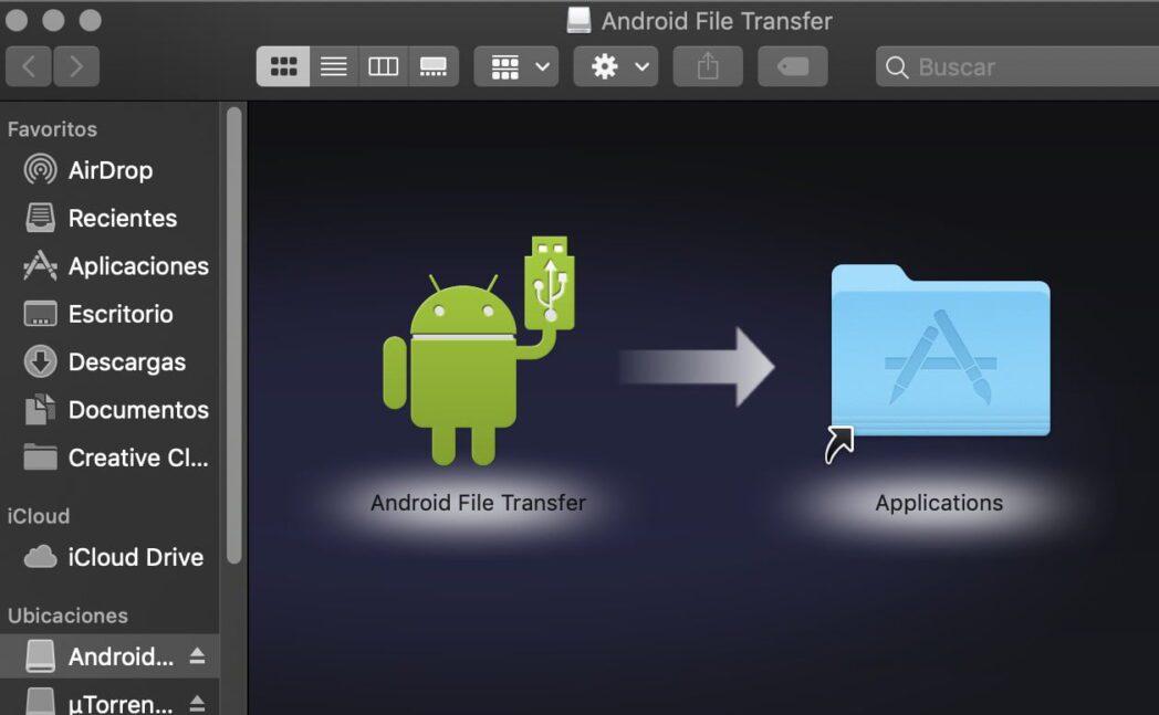 transferir archivos entre mac y android usando android file transfer