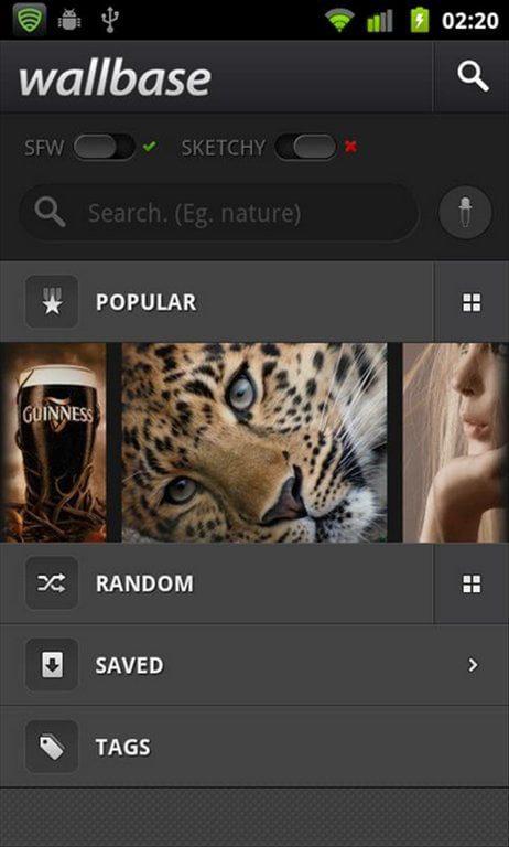 wallbase mas de 1 millon de fondos de pantalla hd android app del giorno 1
