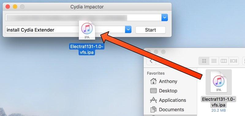 Jailbreak iOS 11.3.1 - Cydia Impactor