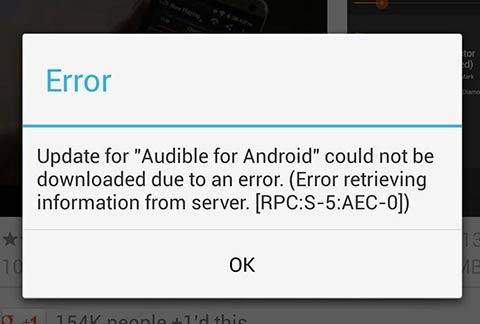 Error de Google Play