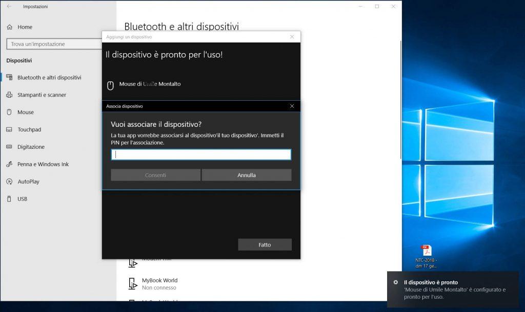 asociar un mouse con una PC