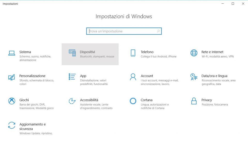 configuración de la ventana