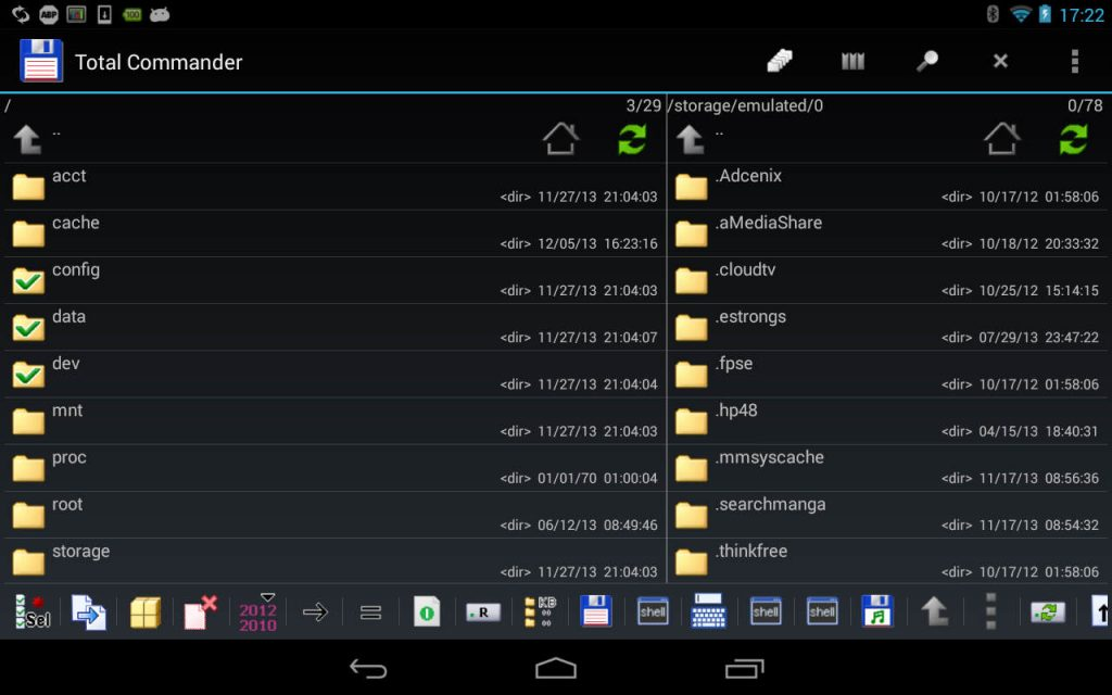 Total Commander of Free Android File Managers