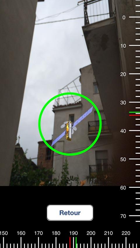 la posición exacta del satélite