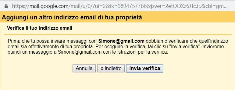 Verifique su nueva dirección de correo electrónico