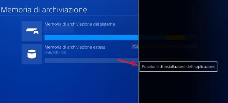 Memoria extra de PS4