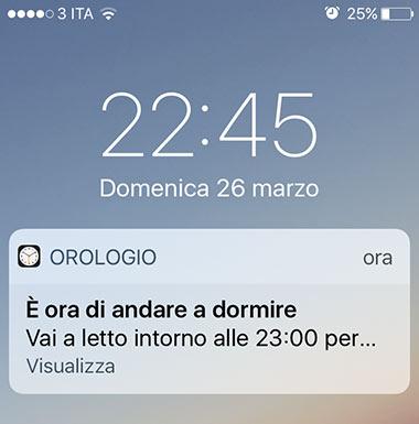 configurar el modo de suspensión en iOS 10