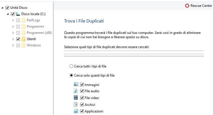 Buscador de archivos duplicados de Auslogics