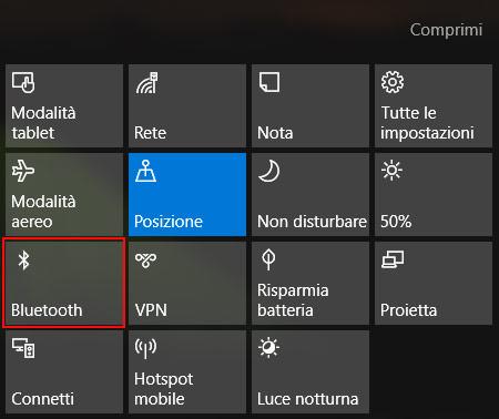 activar bluetooth: ubicación
