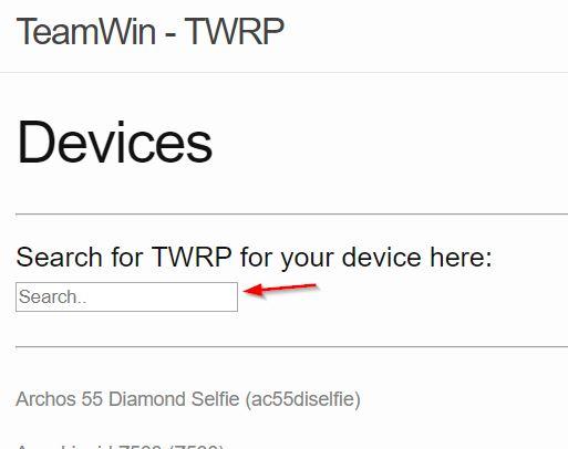 flash TWRP