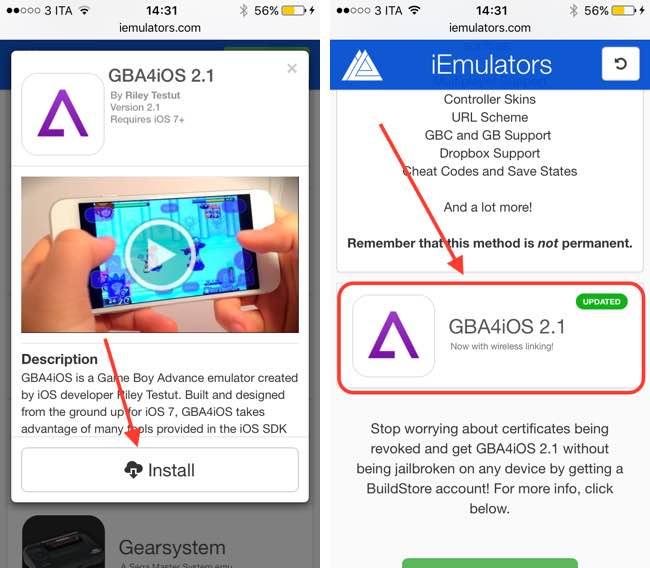 instalar el emulador de GameBoy en iOS 9 2