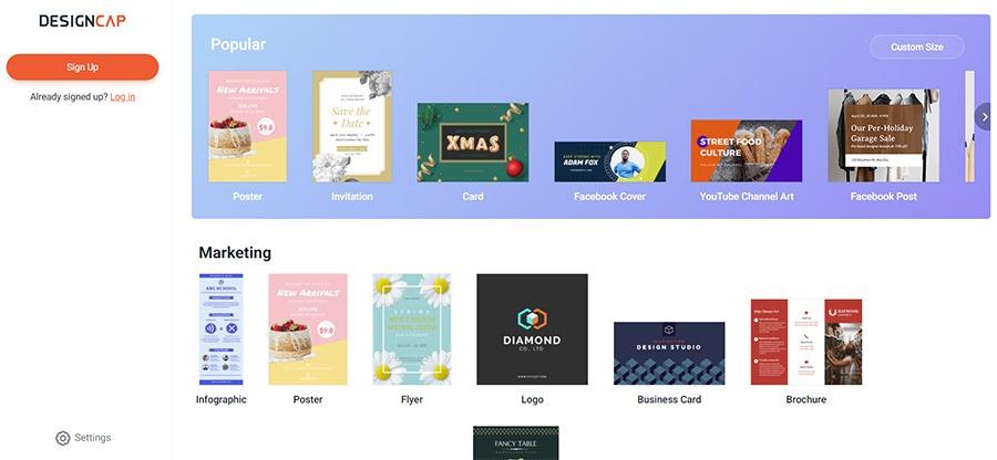 Flyers y carteles DesignCap online