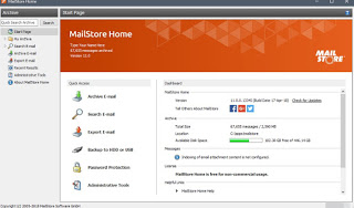 Inicio de MailStore