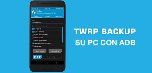 Copia de seguridad TWRP a PC a través de ADB