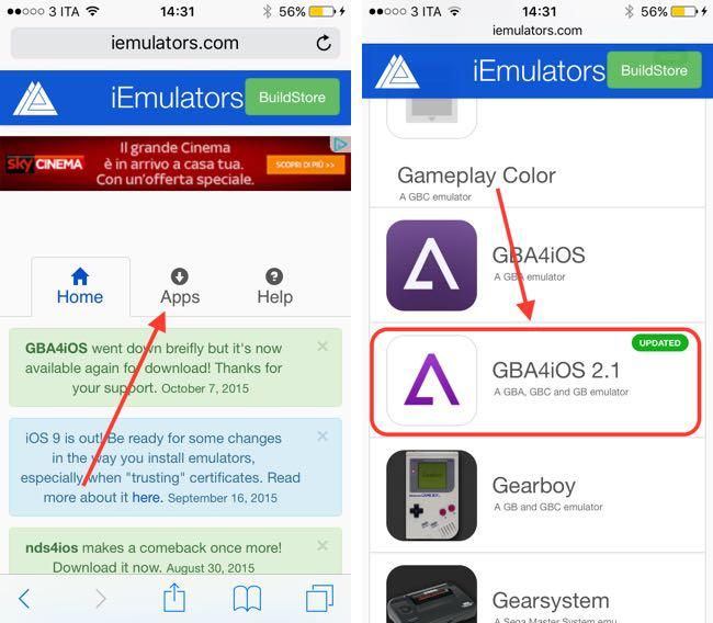 instalar el emulador de GameBoy en iOS 9 1