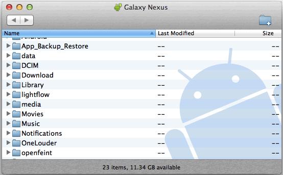 transferir archivos desde Mac al dispositivo Android 2