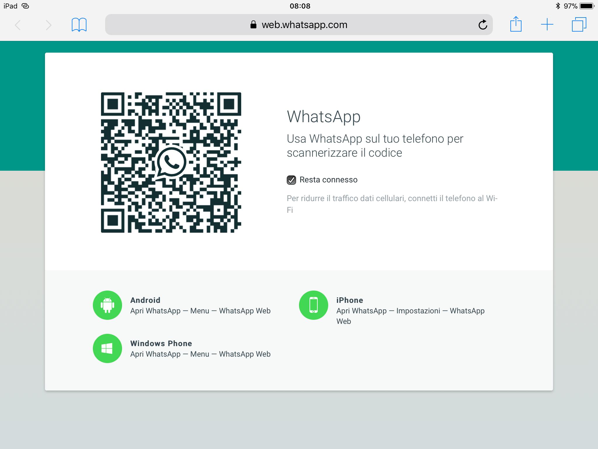 Cómo usar WhatsApp Web en una computadora con Android o iPhone