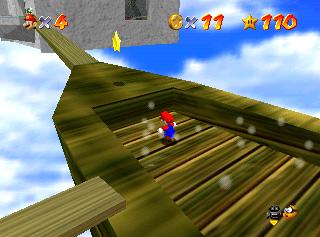 Super Mario 64: dónde encontrar estrellas en Rainbow Walk