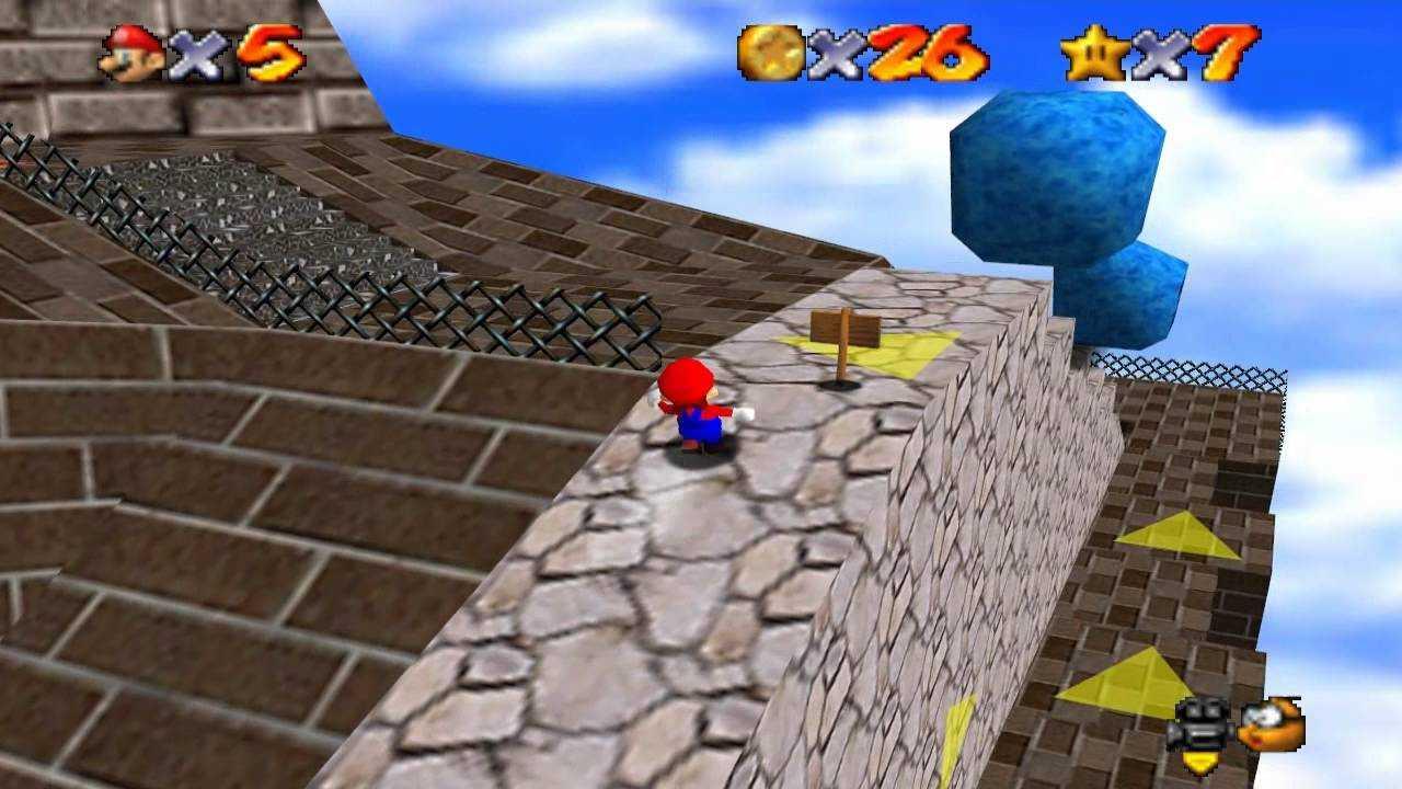 Super Mario 64: dónde encontrar todas las estrellas en Wamp Fortress