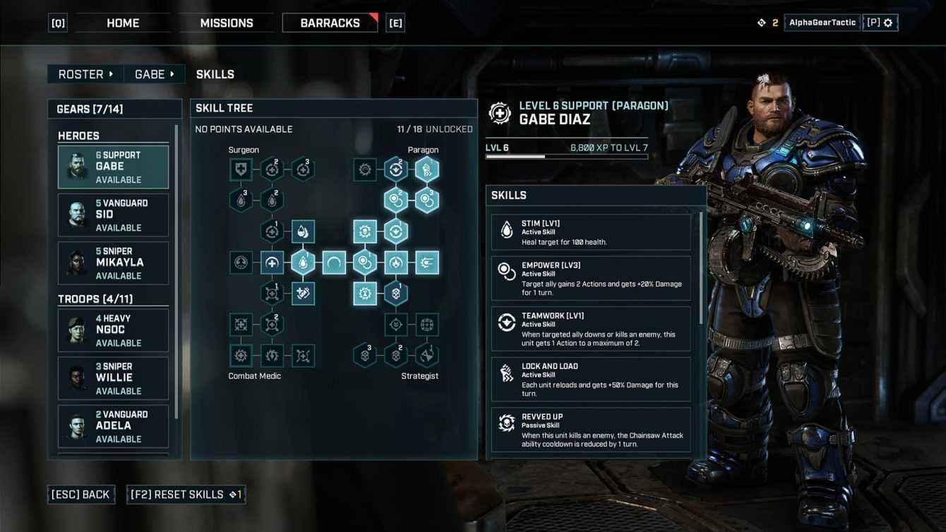 Tactics Gears: una guía de juego