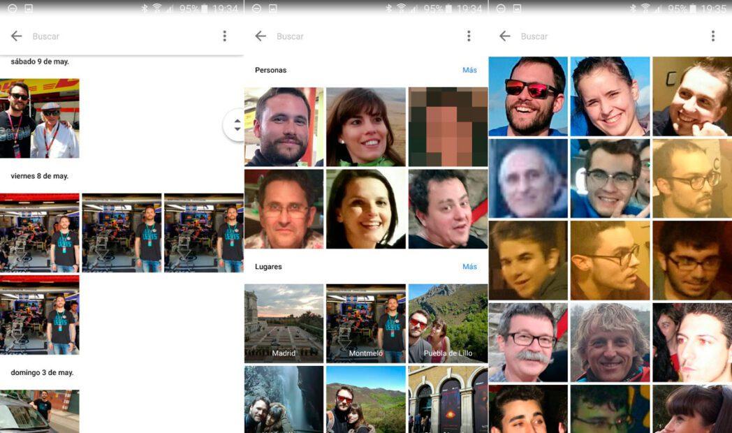 activar el reconocimiento facial en google fotos