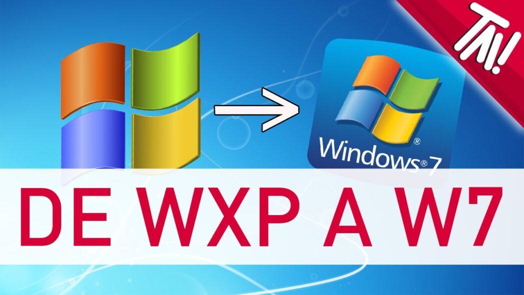 actualice windows xp o vista a windows 7 8 o 10