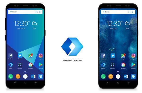 android con microsoft launcher se convierte en windows phone