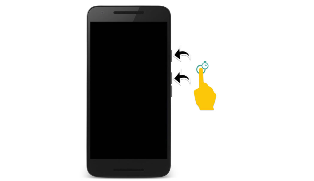 apriete las teclas de un telefono inteligente android scaled