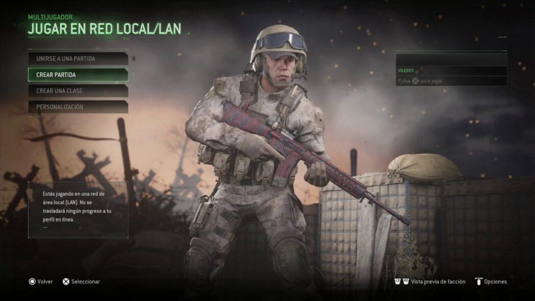call of duty modern warfare como jugar dos jugadores