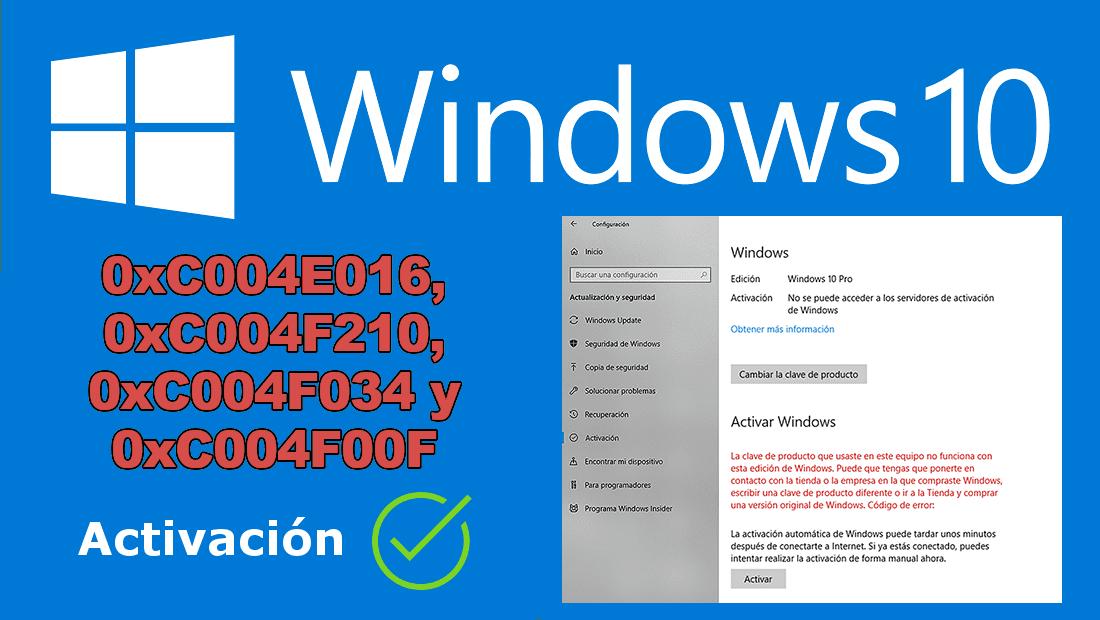 como activar windows 10 y corregir errores de clave de producto