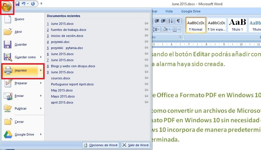 como convertir documentos de office a pdf