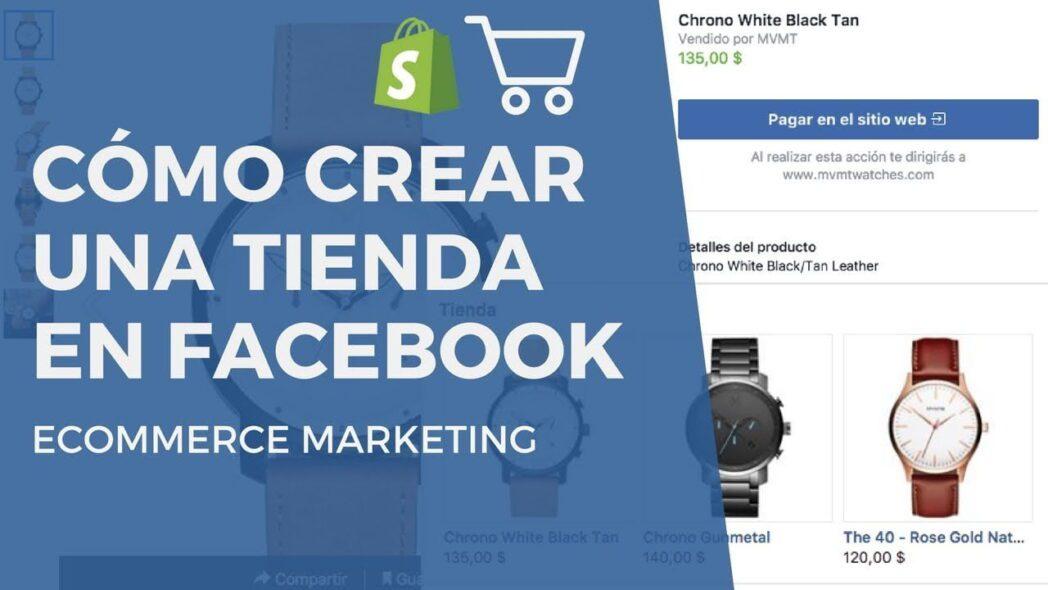 como crear una tienda en facebook store con catalogo de productos